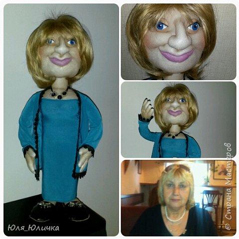 текстильные куклы-шарж фото 2