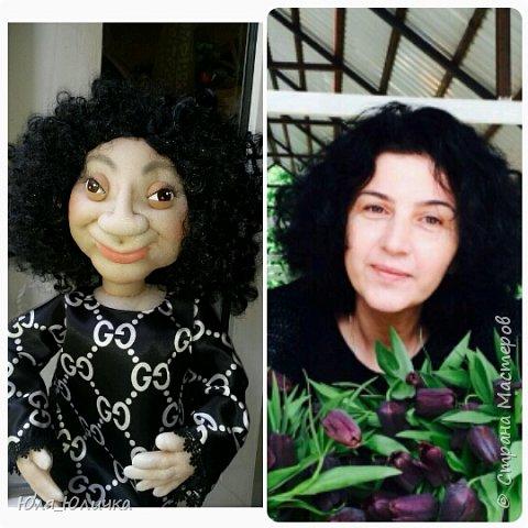текстильные куклы-шарж фото 3