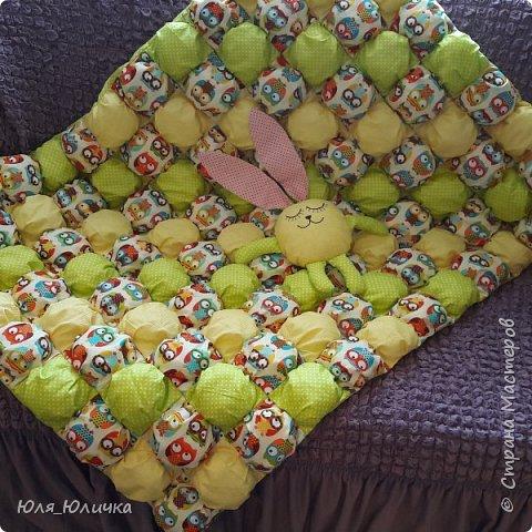 Зефирное одеялко бомбон в детскую кроватку выполнено из 100% хлопка, наполнитель холлофайбер. фото 1