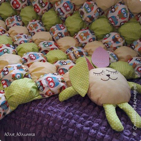Зефирное одеялко бомбон в детскую кроватку выполнено из 100% хлопка, наполнитель холлофайбер. фото 2