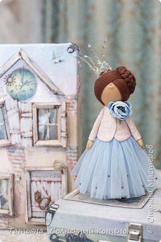 Текстильная куколка-принцесса Виктория фото 1