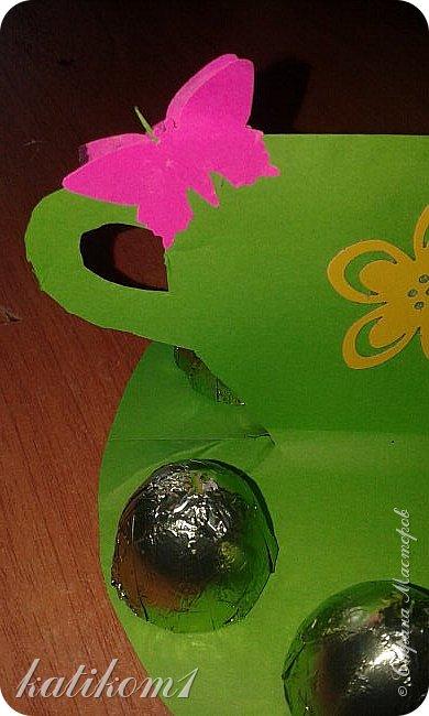 Вот такие  чашечки с конфетами сынуля сделал своим бабушкам фото 2