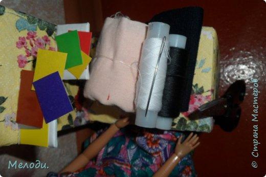 """Всем привет! Сегодня я представляю работу на конкурс """"Хобби и увлечение куклы"""" .Её представляет Элла. Э-сегодня я расскажу о моём увлечении.Я швея,очень люблю шить и вышивать узоры на одежде. фото 7"""