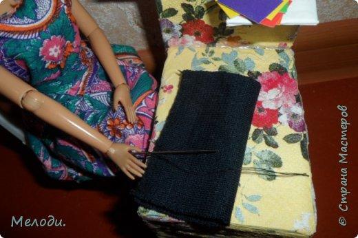 """Всем привет! Сегодня я представляю работу на конкурс """"Хобби и увлечение куклы"""" .Её представляет Элла. Э-сегодня я расскажу о моём увлечении.Я швея,очень люблю шить и вышивать узоры на одежде. фото 8"""