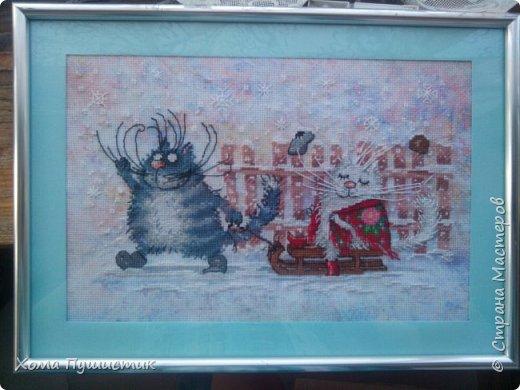 Котики по мотивам рисунков И.Зенюк, вышивка крестиком, МП Студия.  фото 5