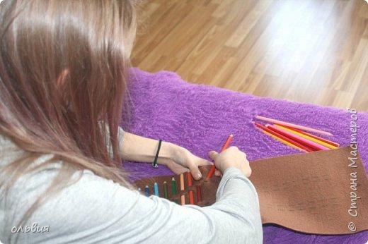 Добрый день. Вот такой, как мы думаем, практичный органайзер для карандашей сделала Кристина, процесс изготовления быстрый, нам понравился результат фото 3