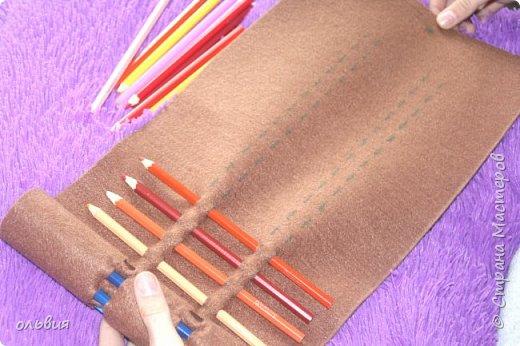 Добрый день. Вот такой, как мы думаем, практичный органайзер для карандашей сделала Кристина, процесс изготовления быстрый, нам понравился результат фото 4