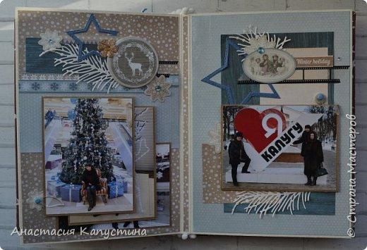 Альбом размером 15*20 из двух наборов бумаги 20*20 Rustic Winter и Shabby Winter. В нем разместилось 27 фотографий размером 7,5 *10 см фото 10