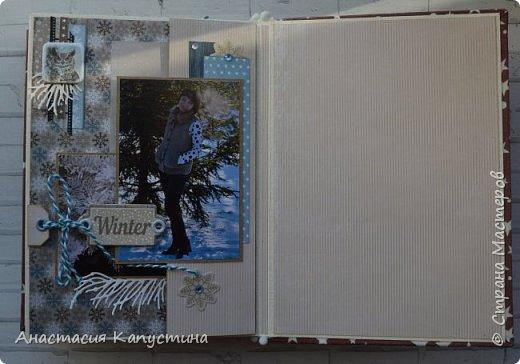Альбом размером 15*20 из двух наборов бумаги 20*20 Rustic Winter и Shabby Winter. В нем разместилось 27 фотографий размером 7,5 *10 см фото 12