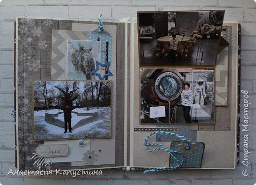 Альбом размером 15*20 из двух наборов бумаги 20*20 Rustic Winter и Shabby Winter. В нем разместилось 27 фотографий размером 7,5 *10 см фото 8