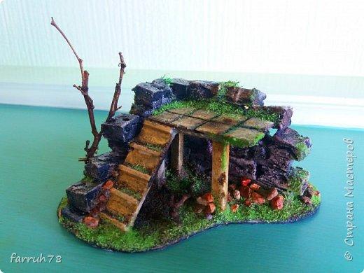 Разрушенная крепость диорама фото 4