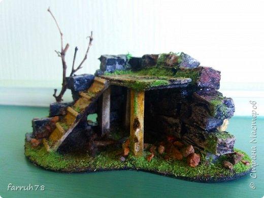 Разрушенная крепость диорама фото 1