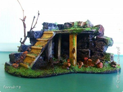 Разрушенная крепость диорама фото 3