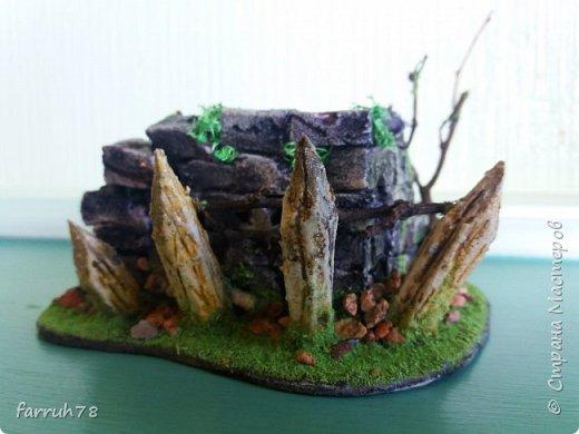 Разрушенная крепость диорама фото 9