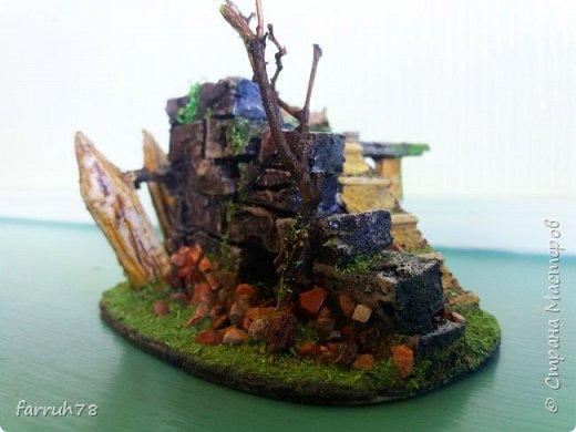 Разрушенная крепость диорама фото 8