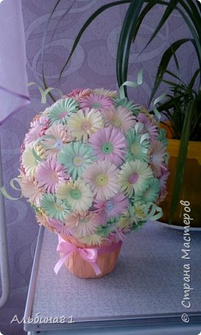 Этот цветочный шар я подарила своей маме.   фото 2