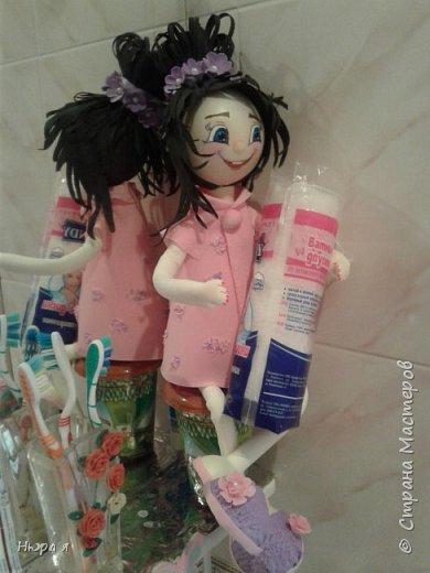 Держательница ватных дисков,ушных палочек иои просто украшение туалетного столика.  фото 2