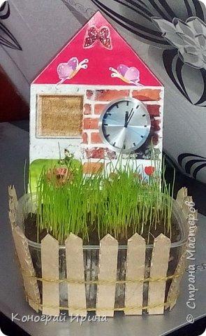 Наступила весна и повсюду уже видны первые росточки зелени. Мы с сыночком решили посадить травку и понаблюдать за её ростом. фото 1