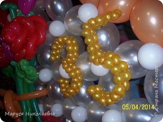 Открытками это назвать сложно, скорее - панно из воздушных шариков, которым можно эффектно поздравить с днём рождения. Это панно-открытка говорит само за себя: заказали на 35-ти летие молодой женщине. фото 3