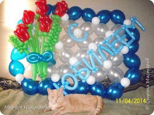 Открытками это назвать сложно, скорее - панно из воздушных шариков, которым можно эффектно поздравить с днём рождения. Это панно-открытка говорит само за себя: заказали на 35-ти летие молодой женщине. фото 4