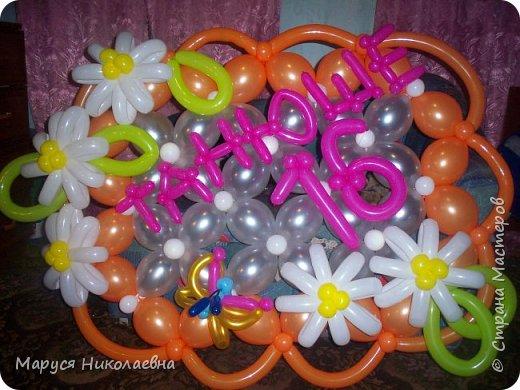 Открытками это назвать сложно, скорее - панно из воздушных шариков, которым можно эффектно поздравить с днём рождения. Это панно-открытка говорит само за себя: заказали на 35-ти летие молодой женщине. фото 11
