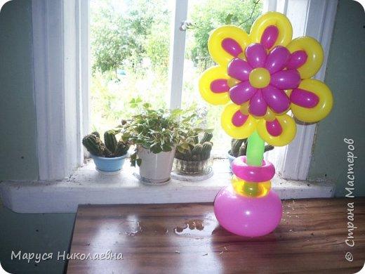Покажу вам мои шарокрутики - цветочки. Здесь - только букеты из воздушных шаров. Все они сделаны в разное время, в основном на заказ. фото 3