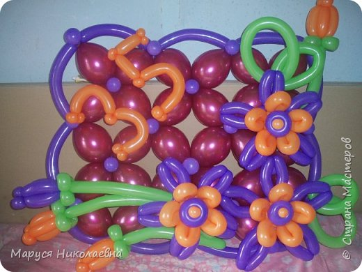 Открытками это назвать сложно, скорее - панно из воздушных шариков, которым можно эффектно поздравить с днём рождения. Это панно-открытка говорит само за себя: заказали на 35-ти летие молодой женщине. фото 1