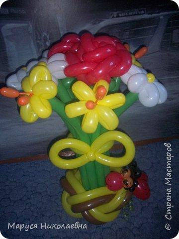 Покажу вам мои шарокрутики - цветочки. Здесь - только букеты из воздушных шаров. Все они сделаны в разное время, в основном на заказ. фото 6
