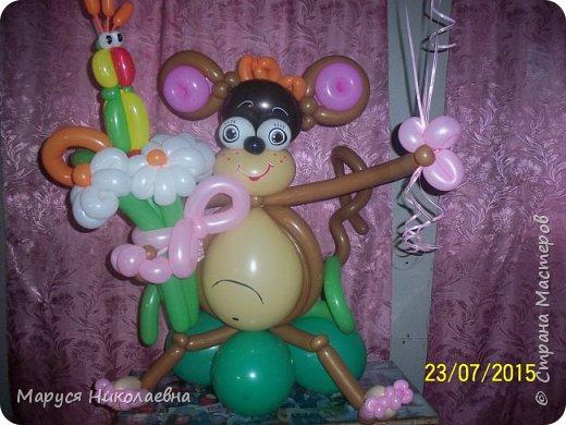 Покажу вам другие мои другие шарокрутики, назвала их букеты-обнимашки. В основном, это зверята - мишки, зайчики... Да что я вам рассказываю, смотрите сами.  фото 16
