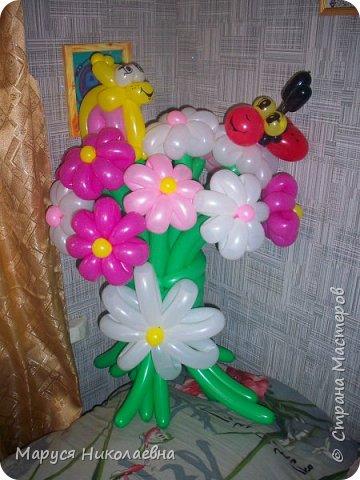 Покажу вам мои шарокрутики - цветочки. Здесь - только букеты из воздушных шаров. Все они сделаны в разное время, в основном на заказ. фото 9