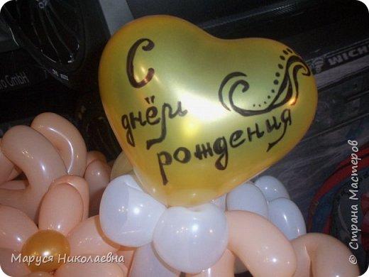 Покажу вам мои шарокрутики - цветочки. Здесь - только букеты из воздушных шаров. Все они сделаны в разное время, в основном на заказ. фото 14