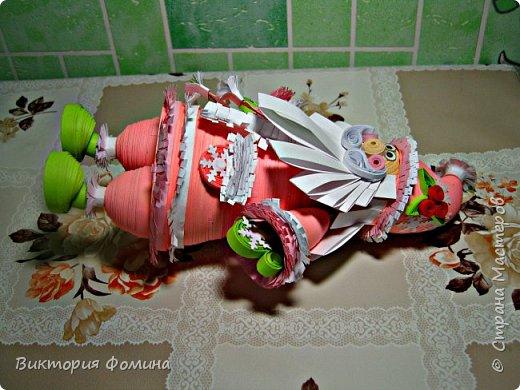 Доброго времени суток! Хочу представить игрушечку в технике квиллинг. Это Дед Мороз и его высота 17 см. Увидела мк этой фигурки у одной блогерши и не удержалась, чтоб не сделать и себе такого. А вот и ссылочка на мк http://quilling-life.com/kvilling-santa-klaus/ фото 11