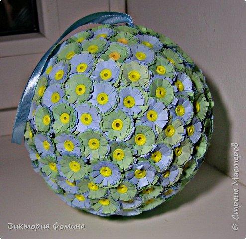 Доброго времени суток! Делюсь с вами моими цветочными шарами, которыми можно украсить и новогоднюю ёлочку и своё рабочее место, а и просто подарить близкому человеку. фото 6