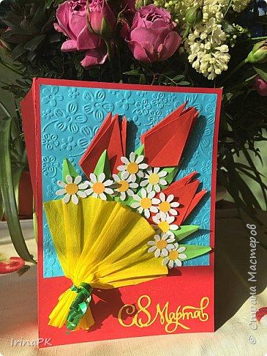 Вот такие открытки делали мамам на 8 Марта. фото 7