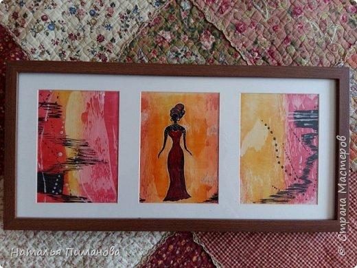 Африканские женщины...узнавать и рисовать их легко: изящная фигурка, черная кожа, большие серьги. Благодарная тема для утюга и воска. Размер картона А3. фото 3