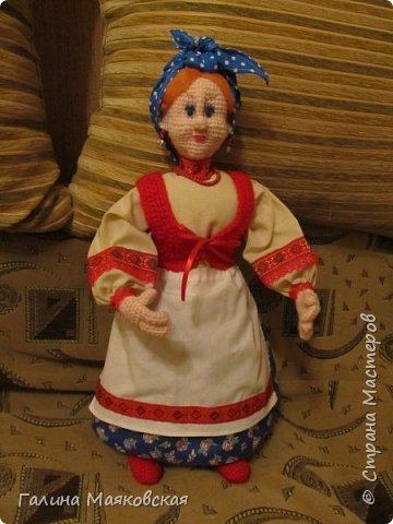 Привет всем! Появилась еще одна бабулечка-красотулечка Матрена. Рост 0,5 м, проволочный каркас. Сделана для компании деду http://stranamasterov.ru/node/1084375. фото 4