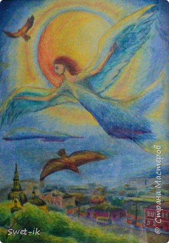Ангел, 30х40, акварельная бумага и пастель
