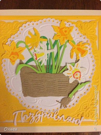Решилась показать открыточки, которые делала к 8 марта. Открытками заболела после курсов Анны Демаковой! До этого вообще не представляла что это такое!!! фото 1