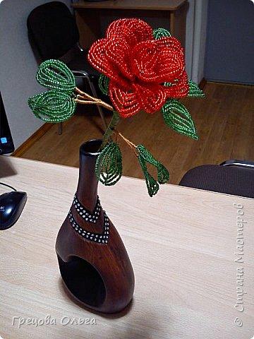Роза из бисера фото 1