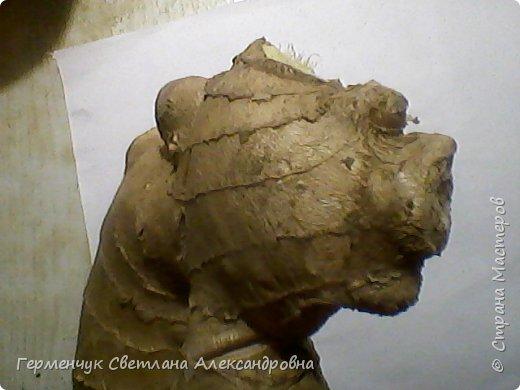 """Это  снова - имбирь . Я увидела в этой  """"скульптуре """" гепарда, а может быть  это-  бульдог? .( Купили с отломанной  верхушкой) фото 1"""