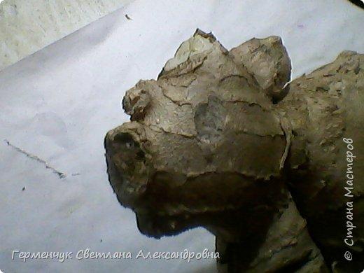 """Это  снова - имбирь . Я увидела в этой  """"скульптуре """" гепарда, а может быть  это-  бульдог? .( Купили с отломанной  верхушкой) фото 4"""