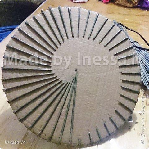 Небольшая коробка под нитки, клубки и т.д.  В основе крышки картон фото 4