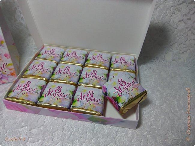 Всем здравствуйте!!! Вот такие подарочные наборы я сделала к 8 марта. Все эти схемы коробочек я нашла на просторах интернета. Распечатала на матовой фотобумаге пл. 230 гр. и 90 гр. для этикеток. фото 7