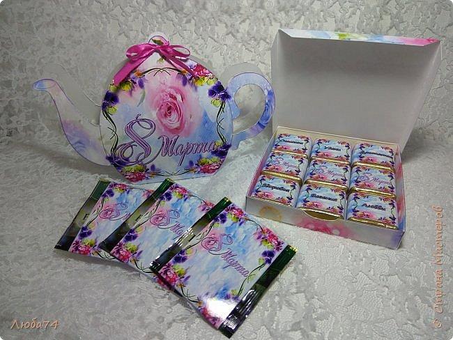 Всем здравствуйте!!! Вот такие подарочные наборы я сделала к 8 марта. Все эти схемы коробочек я нашла на просторах интернета. Распечатала на матовой фотобумаге пл. 230 гр. и 90 гр. для этикеток. фото 13
