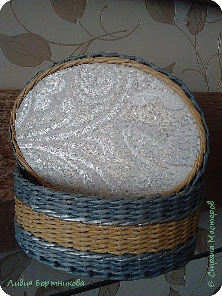 Здравствуйте все неравнодушные к плетению.Сегодня хочу показать последние 3 шкатулки которые сплела уже перед самым праздником 8 марта. фото 4