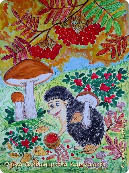 """С самого детства я очень любила рисовать, рисовала, как все дети, а по-настоящему так и не пришлось научиться. А очень хочется...Вот я и пытаюсь рисовать, ведь учиться никогда не поздно. В """"Стране мастеров"""" мне очень понравились уроки рисования, так бы я назвала мастер-классы Ольги Уралочки, https://stranamasterov.ru/user/348207. Несколько пейзажей по её урокам я постаралась изобразить на бумаге.  фото 6"""