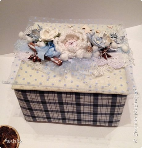 Текстильная коробка фото 1