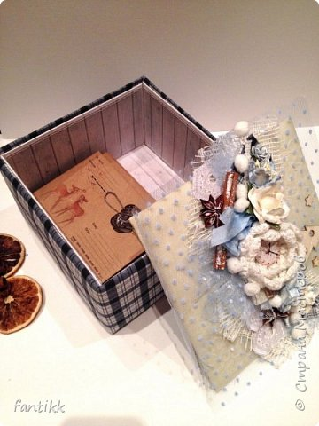 Текстильная коробка фото 4