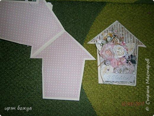 Весна пришла.Захотелось весенних открыток. Вот такие шебби-домики получились. Одна отправиться в подарок по игре, другая будет подарена на день рождение. фото 7