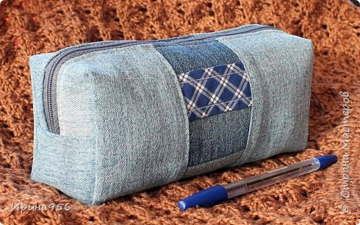 Здесь МК по шитью косметички в форме кирпича :) http://knitly.com/3495 фото 3